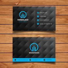 molde moderno do cartão preto e azul Vetor grátis