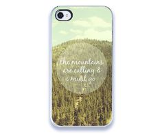 iPhone 4 Case  The Mountains Are Calling  von JillianAudreyDesigns, $30,00