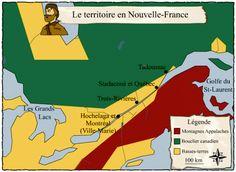 Carte du territoire de la Nouvelle-France