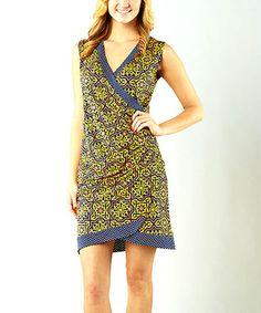 Emblem Lemon Krissy Wrap Dress