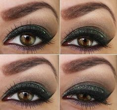I like the idea of green and purple together for green/hazel eyes.