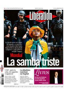 Mundial Brasil 2014 Libération, Paris, France:j June 12, 2014