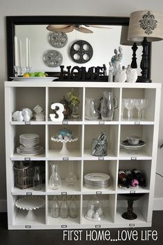 Do you remember? - First Home Love Life PB knockoff with ikea expedit shelving Love it!
