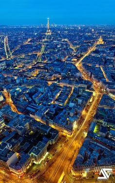 Tour Eiffel depuis la Tour Montparnasse, Paris, France
