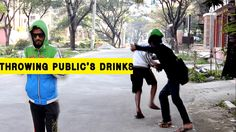 Throwing Public's Drinks | Pranks With People by a2zPranks