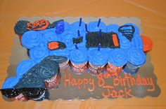 Mom Swim Bike Run: Jack's 8th Birthday Party (Nerf Birthday Party)
