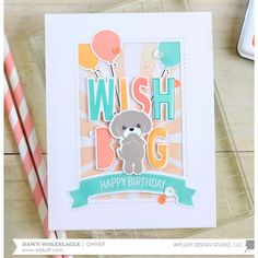 WPlus9 Design Studio Clear Stamps, Happy Gang -