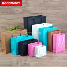 100x Paper bag clothing bags customized LOGO printing gift bag custom packaging paper bag accept custom order #Affiliate