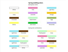 wedding colors for spring