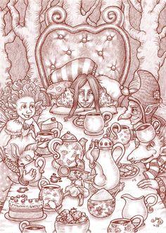 'Teapot Society' - Rosie Lauren Smith Illustration for Miss Landon and Aubranael