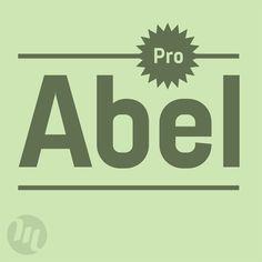Abel Pro – modern condensed sans serif font by MADType