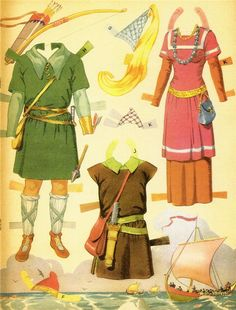 PRINCE VALIANT  PRINCESS ALETA PAPER DOLLS * Free paper dolls at Arielle Gabriel's The International Paper Doll Society
