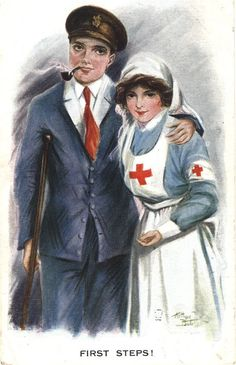 The nurse portrayed as comforting presence, ca. Pictures of Nursing: The Zwerdling Postcard Collection. National Library of Medicine Vintage Pictures, Vintage Images, Vintage Art, World War One, First World, Ww1 Posters, Nurse Photos, Professional Nurse, Vintage Nurse