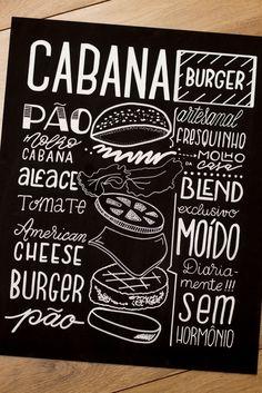 Lousas para uma Hamburgueria (Lousa + Posca) | Chalkboard for a Burger Restaurant (Chalkboard + Posca)