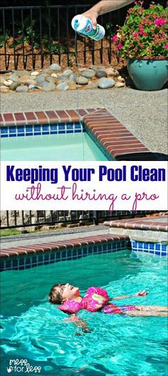How We Keep Our Pool Water Clean Without Hiring A Service - pool care tips and tricks to save you money. #ad