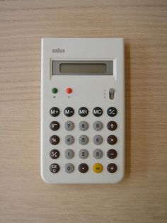 ET55 Calculator White, Limited Edition 5000, Design: Dieter Rams and Dietrich Lubs, 1980.