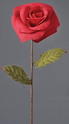 Red Burlap Rose Stem Twine Flowers, Fall Flowers, Diy Flowers, Flower Diy, Burlap Flowers, Fabric Flowers, Paper Flowers, Burlap Crafts, Decor Crafts