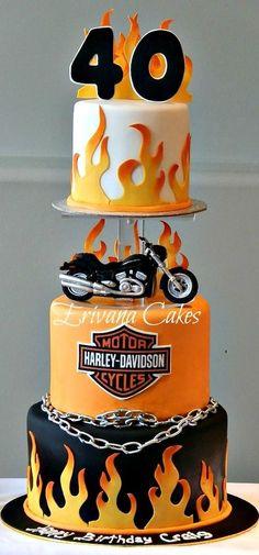 Harley Davidson Motorcycle Cake: