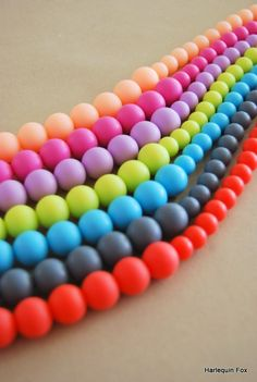 2 Pack  Silicone Teething Necklace / Silicone by HarlequinFox
