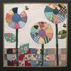 applique.  What a great way to use my vintage 9-patches and vintage fabric