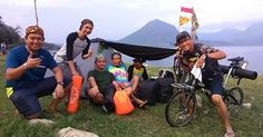 Bike ride in Waduk Jatiluhur
