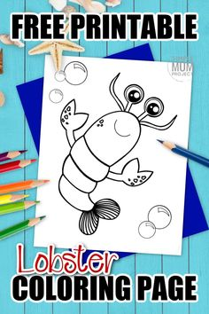 Maine lobster make really great seafood, but they also make really great coloring pages too! This free printable black and white cartoon lobster is great for kids of all ages who love all kinds of fish, crab, cray, ocean and sea animals alike. Start your ocean clipart coloring book today by printing this free lobster coloring page! #lobstercoloring #oceananimalcoloring #SimpleMomProject Mandala Coloring Pages, Animal Coloring Pages, Coloring Books, Lobster Crafts, Sea Creatures Crafts, Ocean Animal Crafts, Black And White Cartoon, Free Cartoons, Color Activities