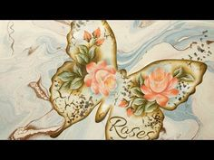 Cuadro Shabby Chic / Técnica Acrylic Pouring - YouTube