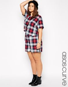 ASOS CURVE Exclusive Shorts In Check