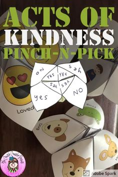 Looking for a fun activity to do during National Random Acts of Kindness Week in February? Or any time of the year for tha. Counseling Activities, Fun Activities To Do, Elementary School Counselor, Elementary Schools, Love Fortune Teller, Superhero Clipart, Vip Kid, Guidance Lessons, All Kids