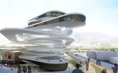 Gallery of Hong Kong Car Park Proposal / Interface Studio Architects - 8 Futuristic Architecture, Beautiful Architecture, Landscape Architecture, Interior Architecture, Building Architecture, Unusual Buildings, Interesting Buildings, Amazing Buildings, Garage Design