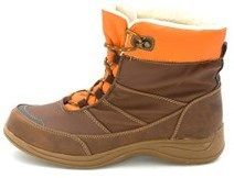 Isotoner Womens Darcy Round Toe Ankle Cold Weather Boots, Brown/orange, Size 9.0.