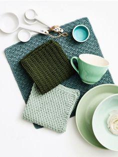 Karklude - GRATIS OPSKRIFT Knitting Videos, Knitting Stitches, Crochet Home, Knit Crochet, Big Knit Blanket, Jumbo Yarn, Big Knits, Knit Dishcloth, Knit Pillow