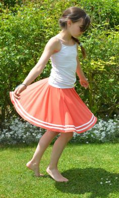 Jupe-qui-tourne-colori-corail-fille-14-ans-skirt-girl-made-in-France