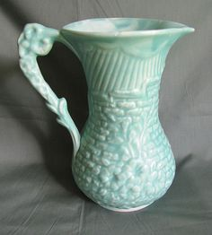 Small Blue Pitcher