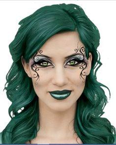 Steampunk Makeup 15 - make_up_pintennium Contour Makeup, Makeup Art, Makeup Ideas, Makeup Guide, Makeup Tutorials, Steampunk Make Up, Covergirl Makeup, Poison Ivy Makeup, Art Visage