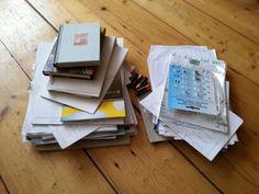 Cursuspapieren, onbeschreven boekjes, allemaal uit een lade.