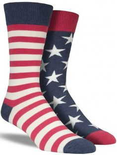 These aren't your mother's American flag socks. Show how strongly you support…