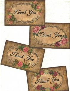 Lot of 12 Vintage Look Labels Grungy Labels Thank You Labels | eBay
