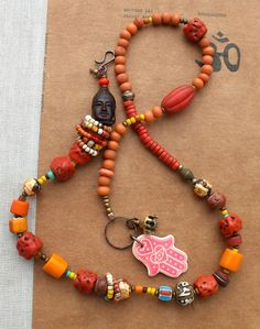coral and trade beads...