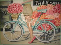 Original Oil Painting  Fresh Flowers by KellyColemanCoursey, $300.00