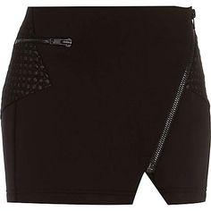 Black scuba biker mini skirt - mini skirts - skirts - women