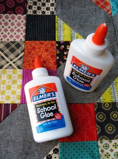 Elmer's Glue Bottles - How to Use Glue in Quilting