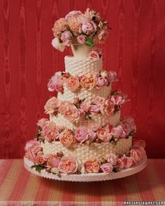 Basket-Weave Cake | Martha Stewart Weddings