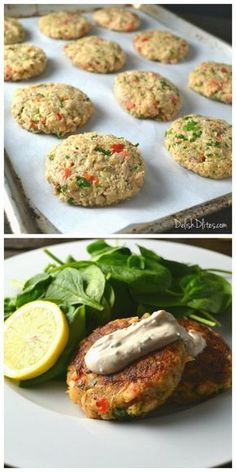 Salmon Cakes with Creamy Mustard Sauce | Delish D'Lites