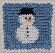 Snowman - crochet free pattern
