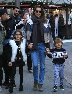 Alessandra Ambrosio Photos Photos - Supermodel and busy mom Alessandra Ambrosio is spotted taking her two kids Anja and Noah to the Santa House at The Grove in Hollywood, California on December 3, 2016. - Alessandra Ambrosio Takes Her Kids to the Santa House at The Grove