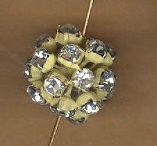 vintage rhinestone bead rhinestone ball by beadtopiavintage