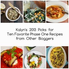 Ten Favorite Phase One Recipes from Other Bloggers for 2013 [from Kalyn's Kitchen] #LowCarb #SouthBeachDiet