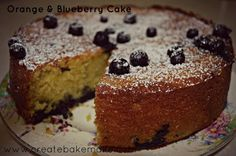 Inspiration for the weekend - Orange and Blueberry Cake - Create Bake Make