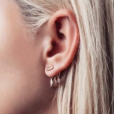 Marquise Dangle Studs- Rose Gold | Luv Aj